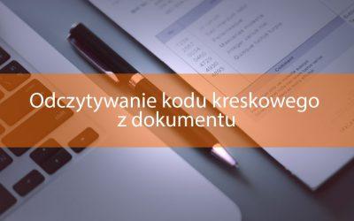 Odczytywanie kodu kreskowego z dokumentu