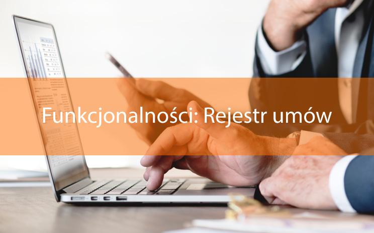 Funkcjonalności: Rejestr umów